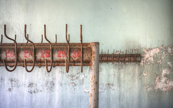 Papéis de Parede Cabide, enferrujado, parede