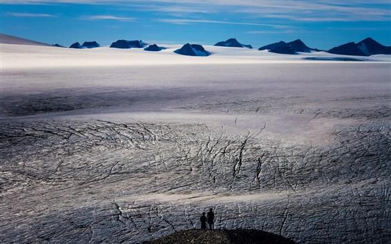 Обои Хардинг Айсфилд, Национальный парк Кенай Фьордс, Аляска, люди