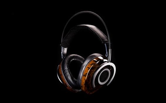 Fond d'écran Casque audio, audio, fond noir