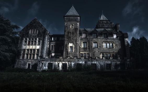 Wallpaper House, night, darkness