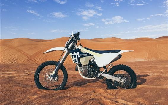 Wallpaper Husqvarna motorcycle, desert