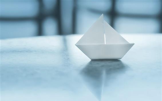 Wallpaper Paper boat, origami, glare