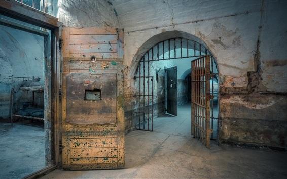 Wallpaper Prison, interior, hall