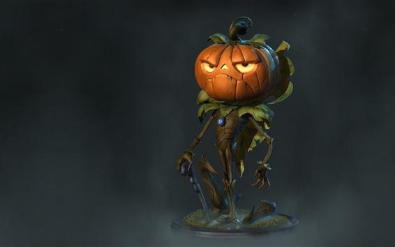 Fond d'écran Monstre de citrouille, Halloween