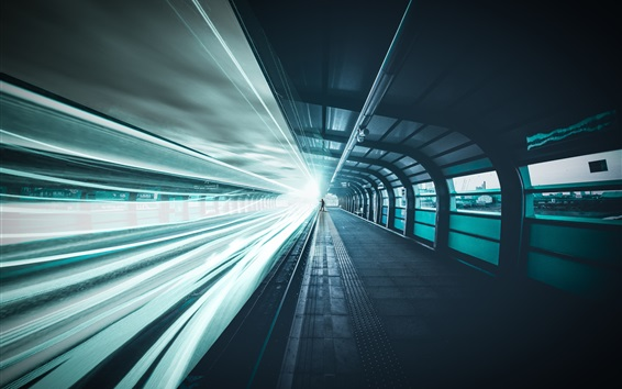 Fondos de pantalla Ferrocarril, líneas de velocidad de luz