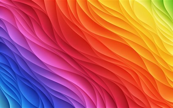 Papéis de Parede Fundo arco-íris, ondulado, abstração
