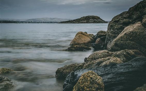 Обои Скалы, море, вода