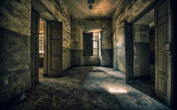 Wallpaper Room, doors, ruins