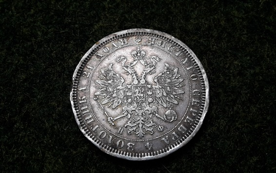 Wallpaper Silver coin, currency, Ruble, Russian