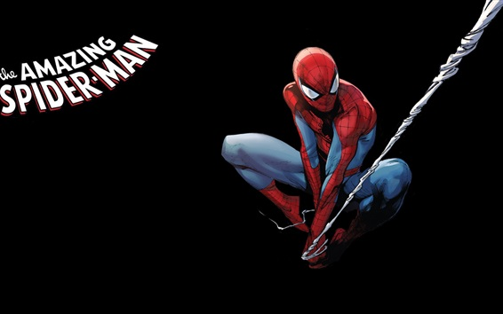 Wallpaper Spider-Man, Marvel Comics, art picture, black background