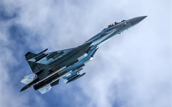 Wallpaper Su-35 multipurpose fighter