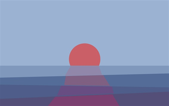 Wallpaper Sunset, sea, abstract picture