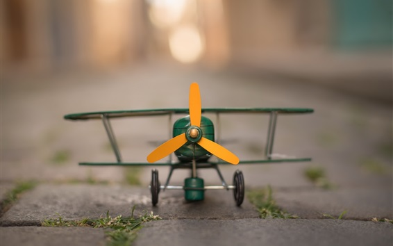 Wallpaper Toy plane front view