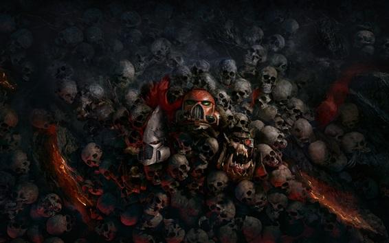 Fond d'écran Warhammer 40000: Aube de guerre, crânes, jeux