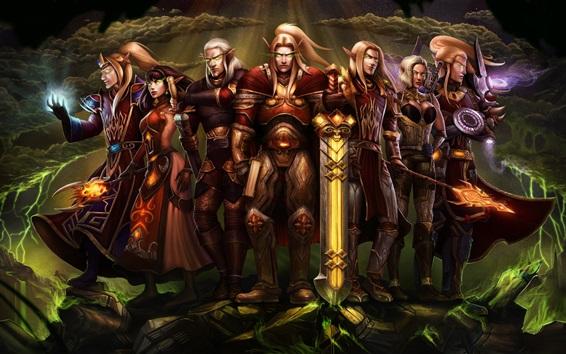 Fondos de pantalla World of Warcraft, elf, imagen de arte