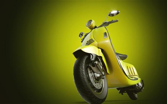 배경 화면 노란색 오토바이