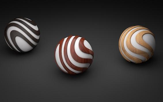 Fond d'écran Balles 3D graphiques