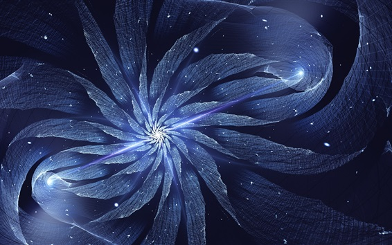Papéis de Parede Abstract flower, light, fractal artworks