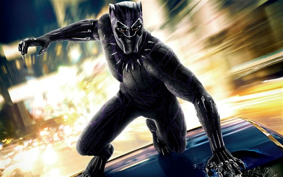Fondos de pantalla Black Panther 2018, héroe de la película Marvel
