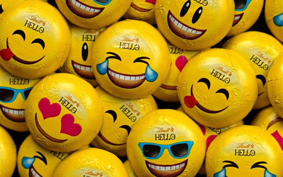 Wallpaper Candy, sweet, different emoticons