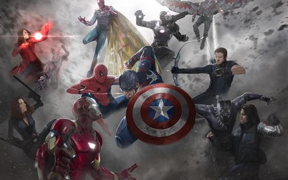 Wallpaper Captain America: Civil War, art picture, Marvel comics