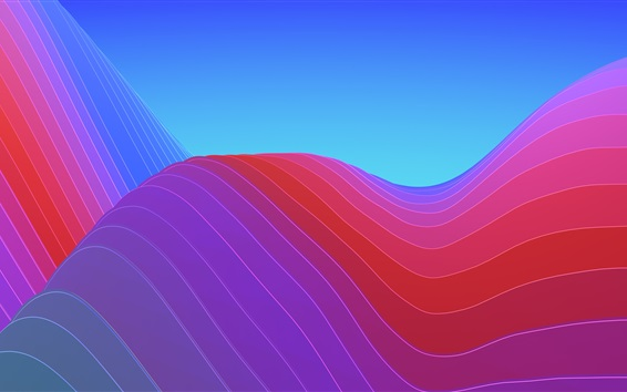 Papéis de Parede Curvas coloridas, abstratas