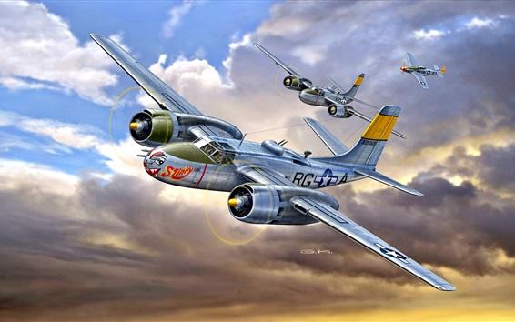 Papéis de Parede Douglas A-26B Invader, lutador, ataque