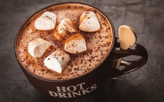 Wallpaper Drinks, coffee, chocolate, cocoa