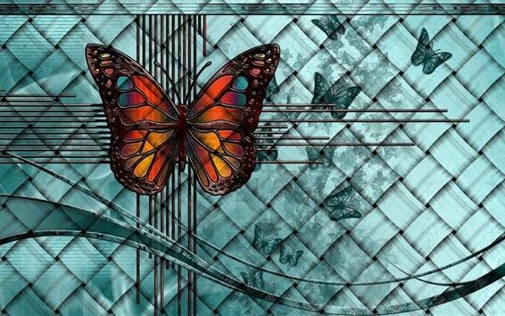 Обои Фантазия, бабочка, творческая картина