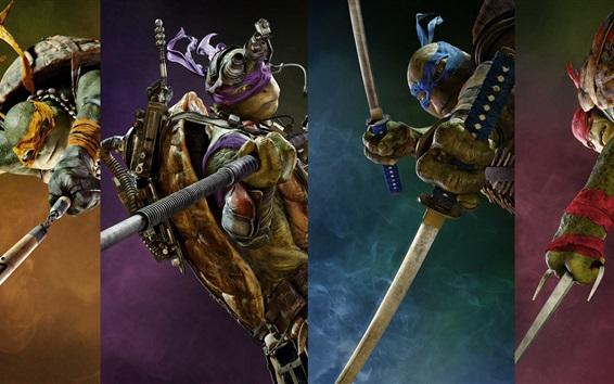 Wallpaper Four heroes, Teenage Mutant Ninja Turtles