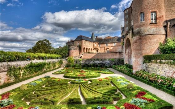 Обои Франция, замок, сад