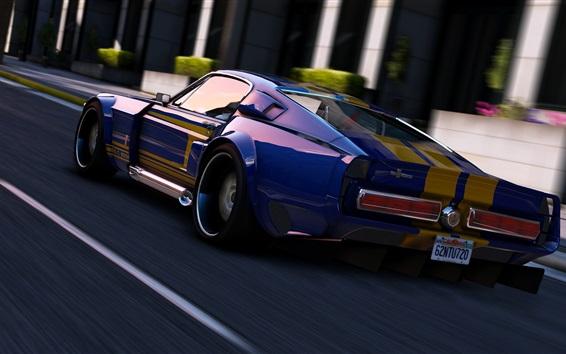 Fondos de pantalla GTA 5, velocidad del coche deportivo