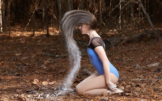 Wallpaper Girl, hair style, bikini, pose