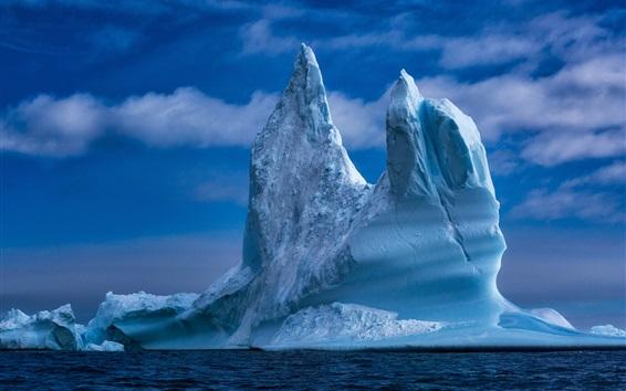배경 화면 그린란드, 빙산, 바다, 얼음