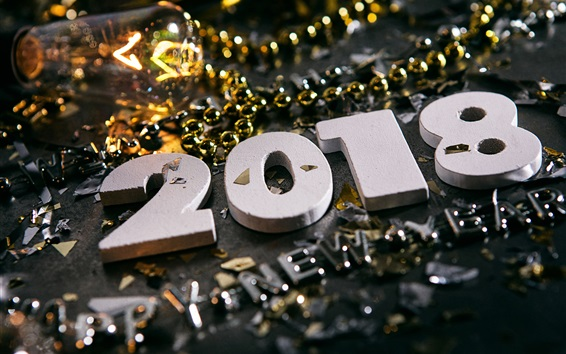 Wallpaper Happy New Year 2018, decorations
