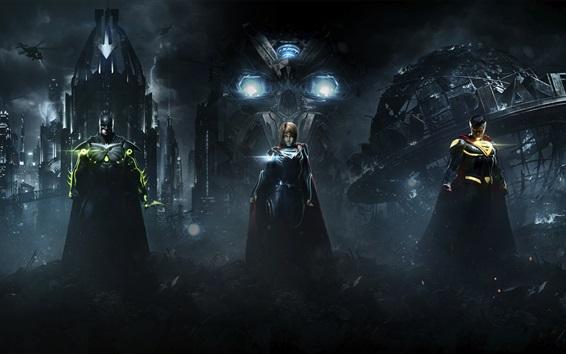 Fondos de pantalla Injustice 2, Batman, Superman, Supergirl