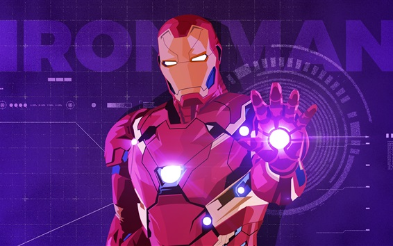 Wallpaper Iron Man, vector picture