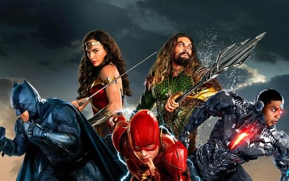 Fond d'écran Justice League, film de science-fiction, DC Comics