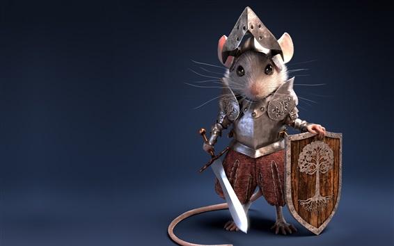 Papéis de Parede Cavaleiro, guerreiro, rato, armadura, design criativo