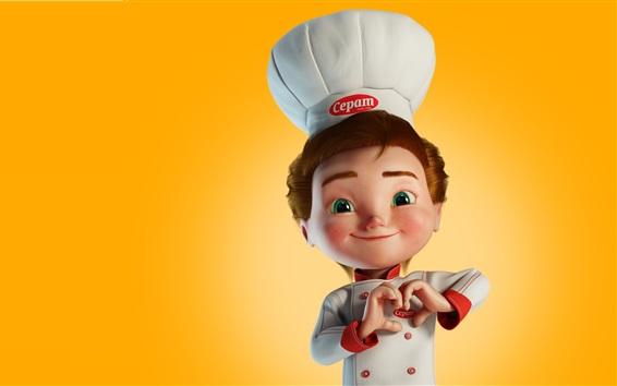 Fondos de pantalla Pequeño cocinero, imagen 3D