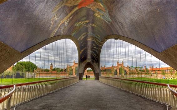 Fond d'écran Madrid, Espagne, pont, centre culturel