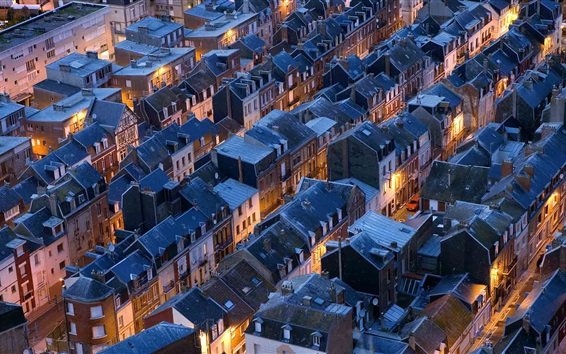 Fond d'écran Beaucoup de maisons, toit, Normandie, France