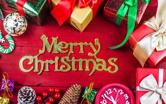 Fond d'écran Joyeux Noël, cadeaux, décorations