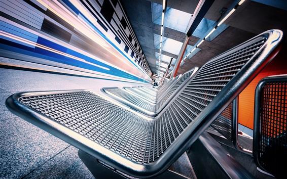 Wallpaper Metro, seats, corridor, speed