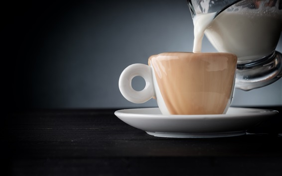Wallpaper Milk, cup, drinks