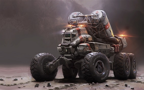 Wallpaper Mining truck vehicle, Halo 5