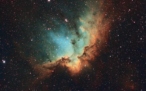Wallpaper NGC 7380, Wizard Nebula, stars, universe