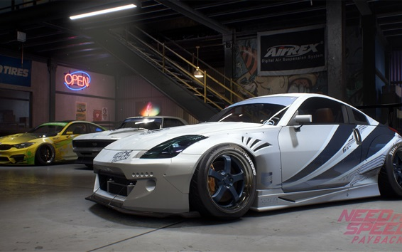 Wallpaper Need For Speed: Payback, Nissan 350Z white car