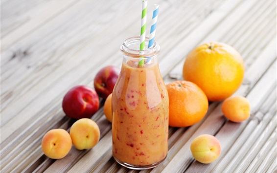 Wallpaper Orange, peach, apricot, smoothies, drinks