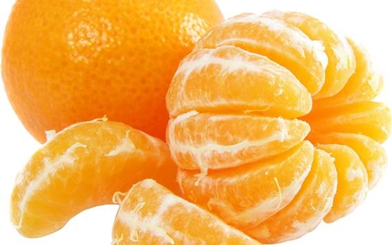 Hintergrundbilder Orangen, Zitrusfrüchte, weißer Hintergrund